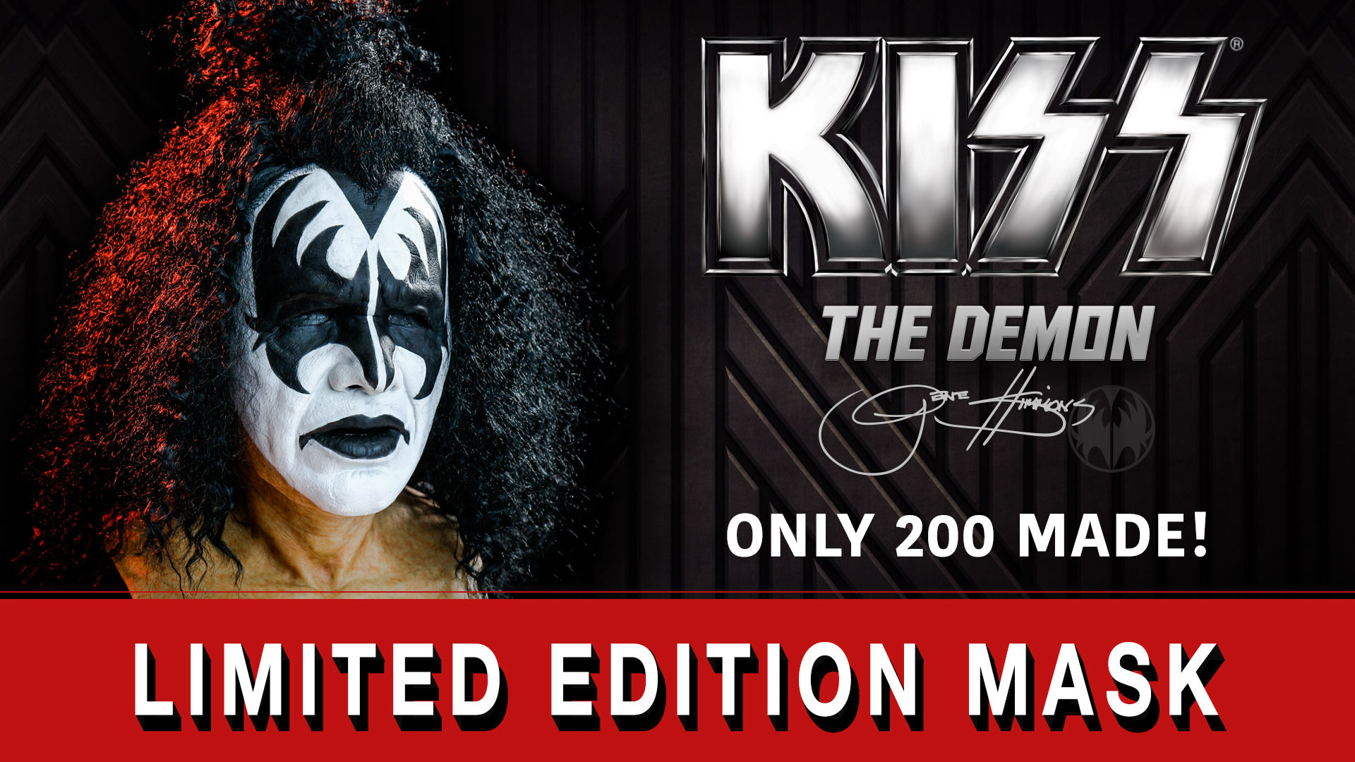 Authentic Limited Edition KISS Gene Simmons Demon Mask