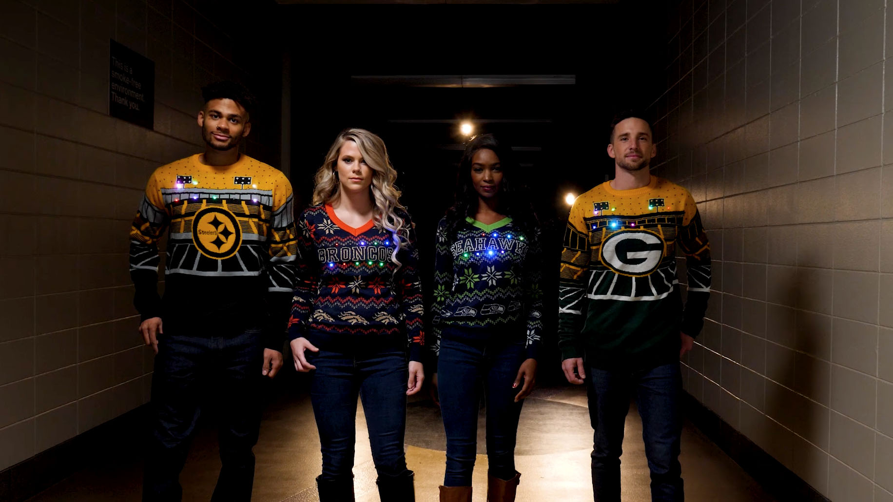 Philadelphia Eagles Light Up Bluetooth Christmas Sweater
