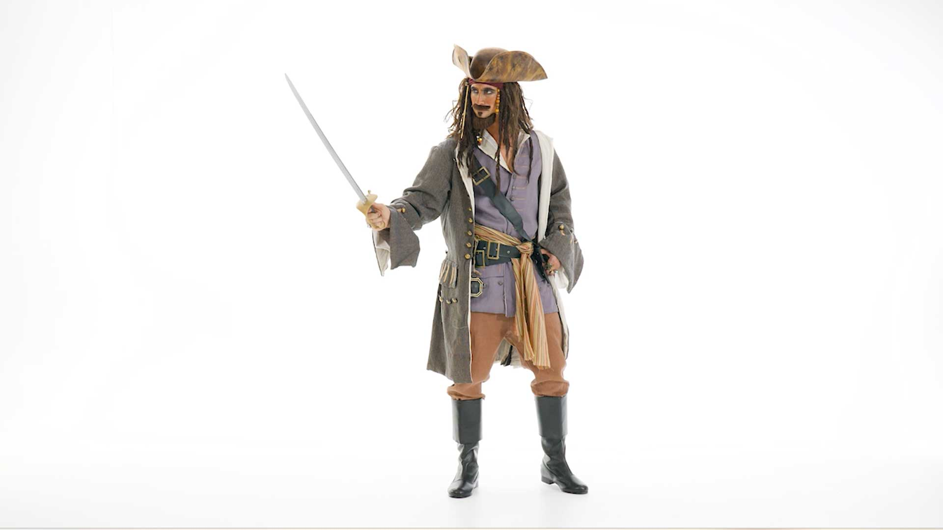 Realistic Caribbean Men's Pirate Costume - Mens Pirate Costumes Adults
