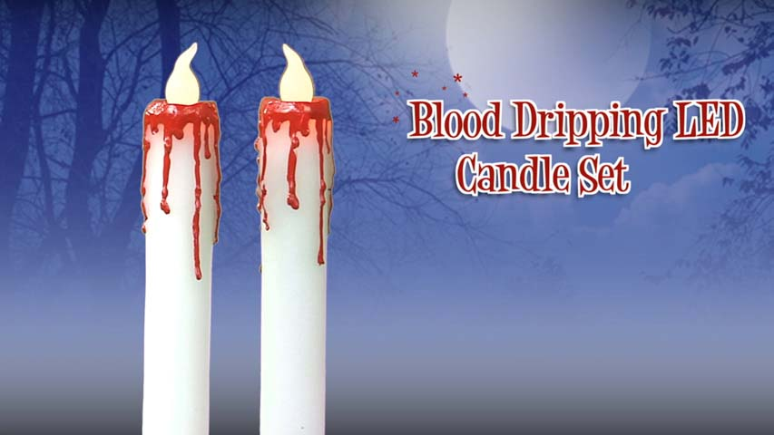 Blood Dripping Candle Set- Halloween Decorations