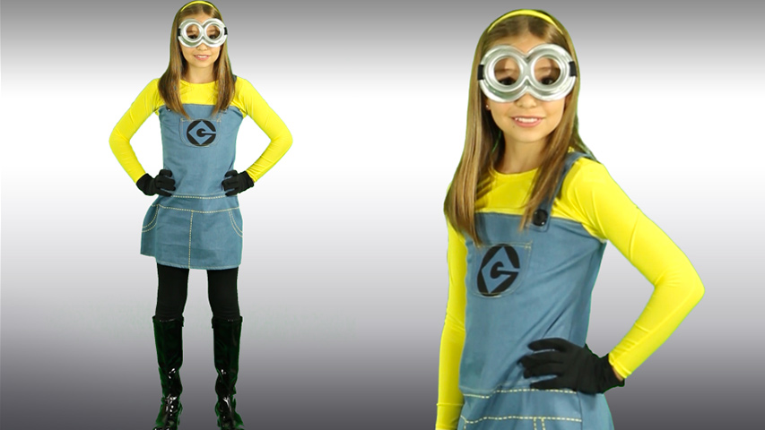 sc 1 st  Halloween Costumes & Child Girls Minion Costume