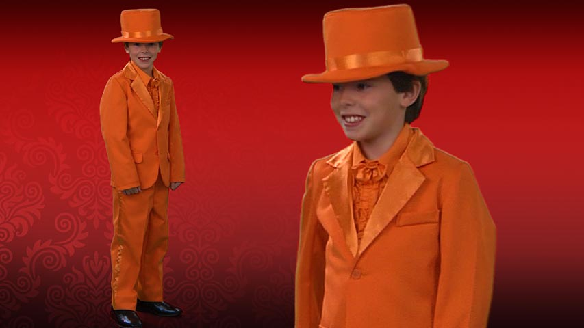 Child Orange Tuxedo
