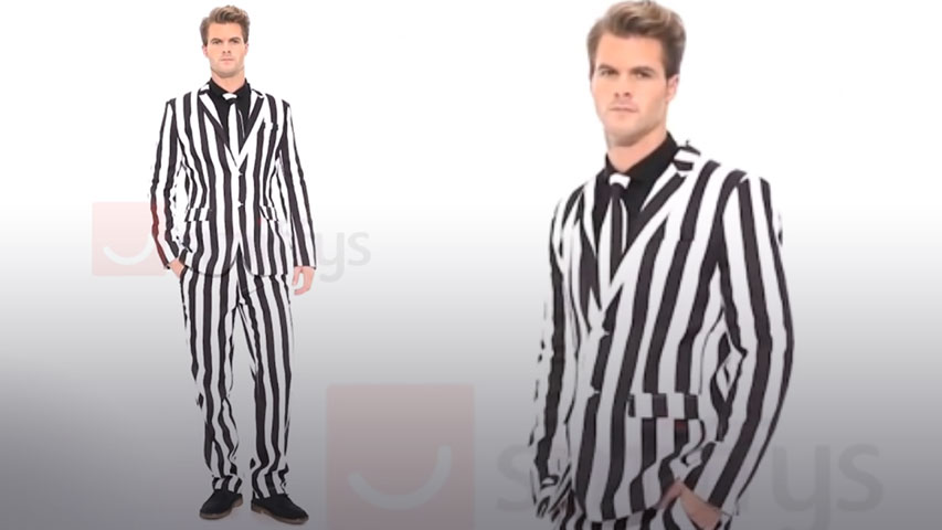 Mens Humbug Stripe Suit