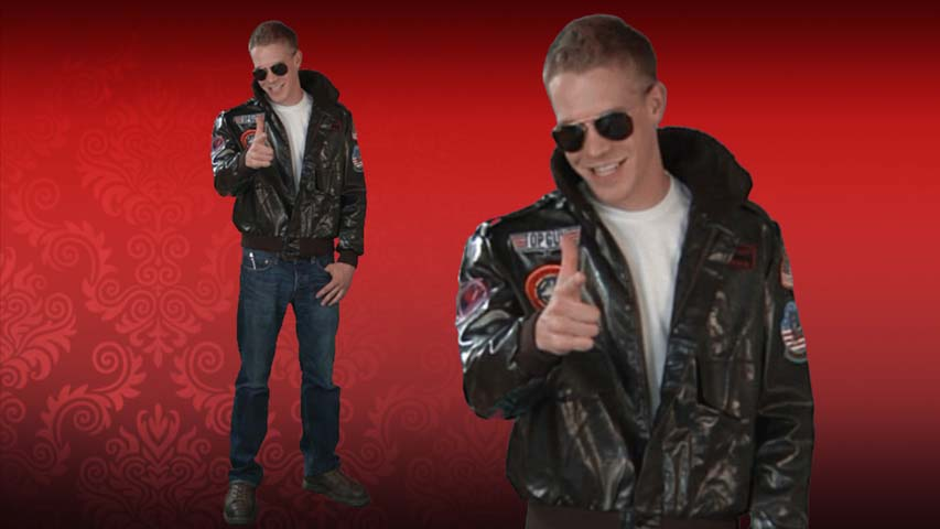 Mens Top Gun Bomber Jacket Costume