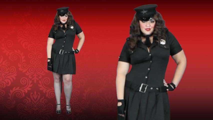 Plus Size Arresting Officer Police Costume