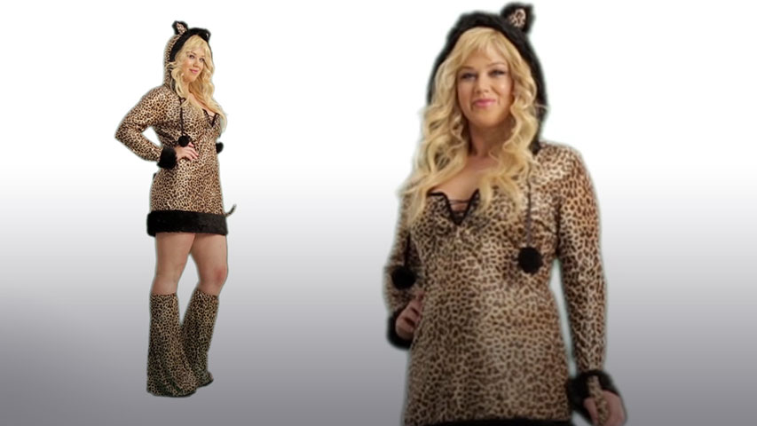Plus Size Womens Cheetah-Licious Costume