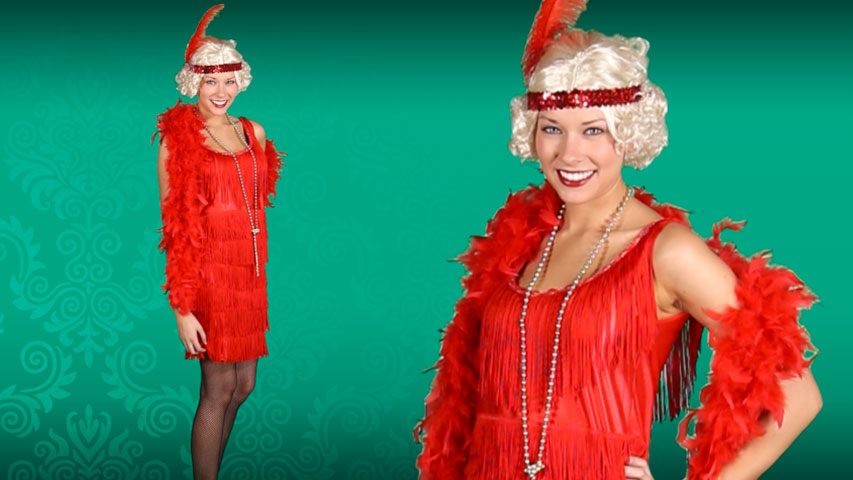 Red Flapper Fashion Dress