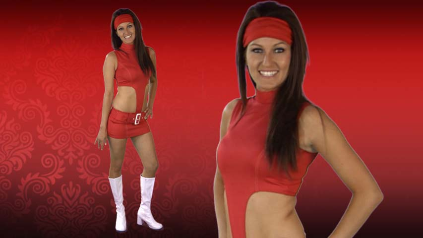 Red Soda Girl Costume