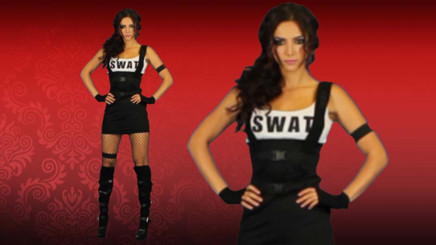 Sultry SWAT Officer Costume