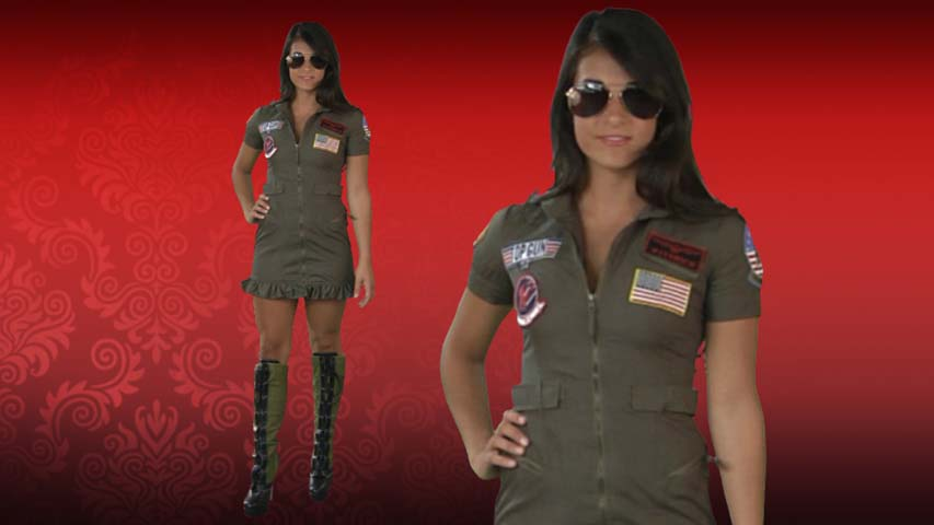 Top Gun Flight Dress Costume