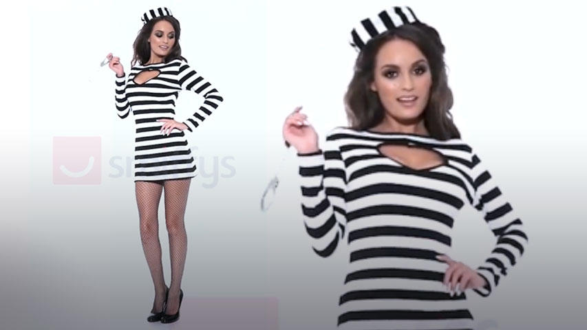 Women's Fever Sexy Convict Costume