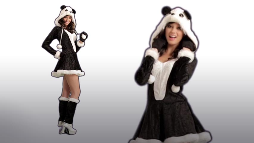 Women's Panda Bear Baby Costume