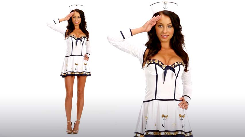 Womens Sexy Sailor Costume- Makin Waves